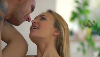 Blonde babe doing anal and swallowing