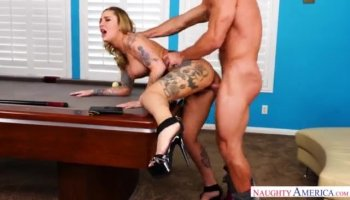 Duke starts drilling Dollys sweet pussy