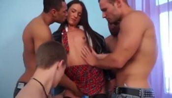 Nasty brunette whore Terry has very big pussy