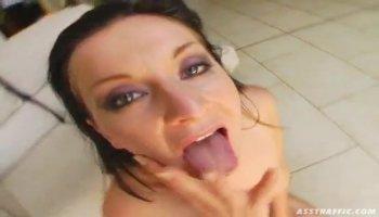 Lesbians licking big natural tits